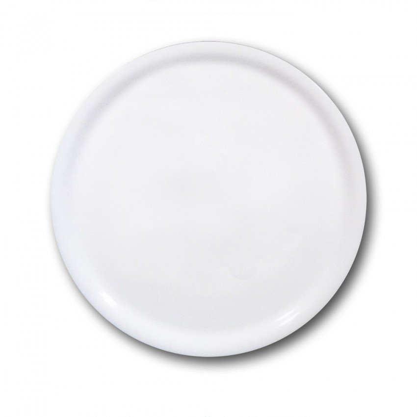 Assiette à pizza porcelaine blanche - D 31 cm - Napoli