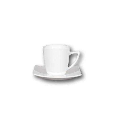 Service à thé 4 personnes porcelaine blanche - Tokio