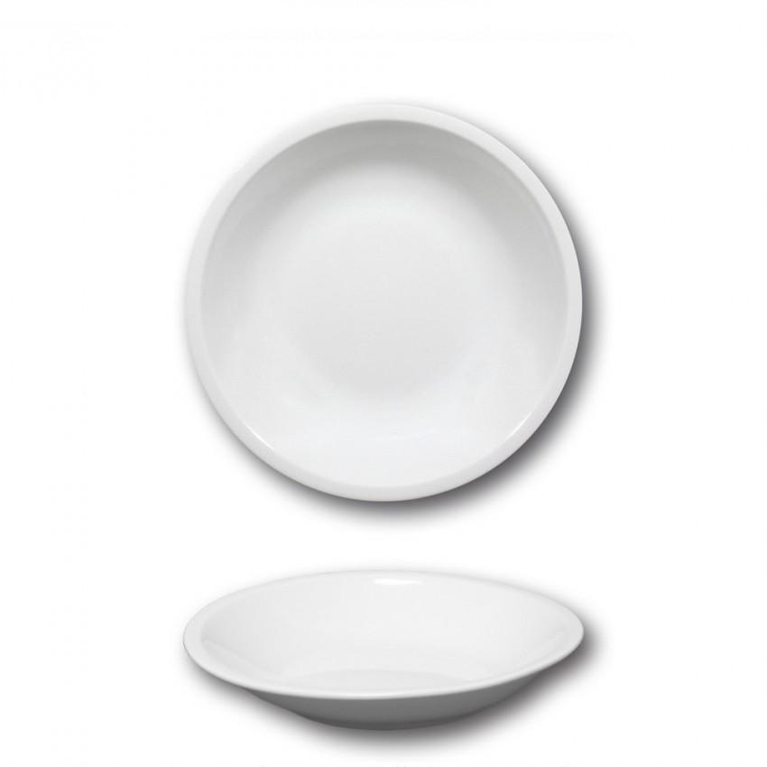 Lot de 6 assiettes creuses porcelaine blanche - D 20,5 cm - Roma