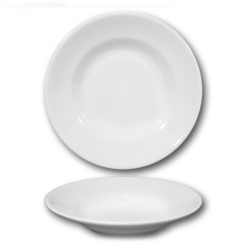 Assiette creuse porcelaine blanche - D 23,5 cm