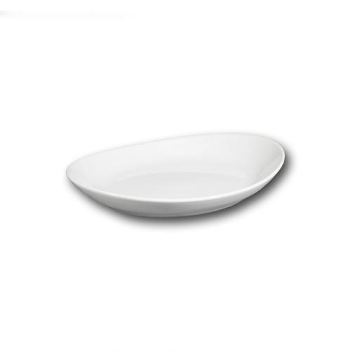 Assiette gondole porcelaine blanche - L 21 cm - Tivoli