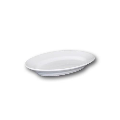 Plat ovale porcelaine blanche - L 23 cm - Tivoli