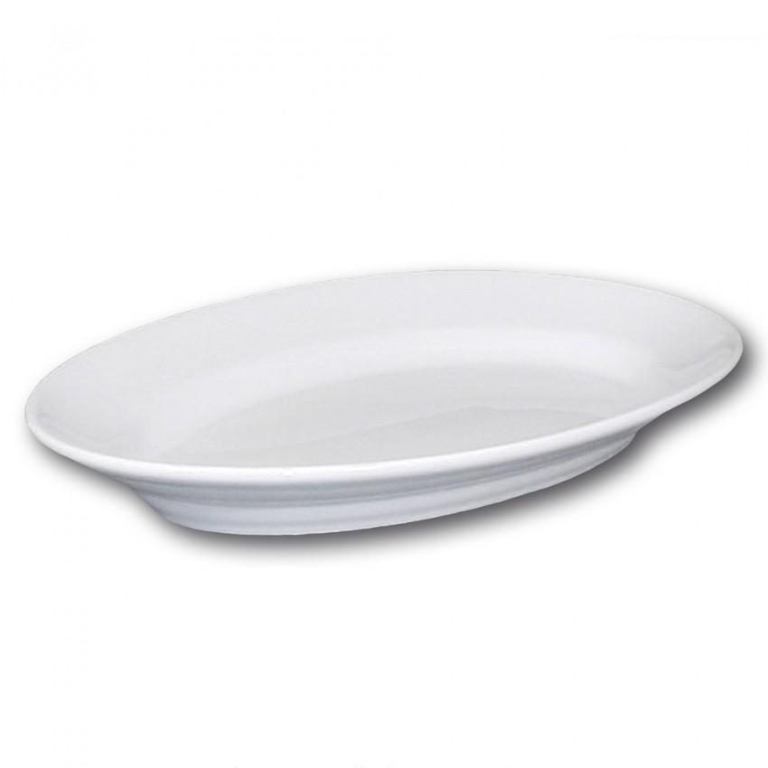 Plat ovale porcelaine blanche - L 42 cm - Tivoli