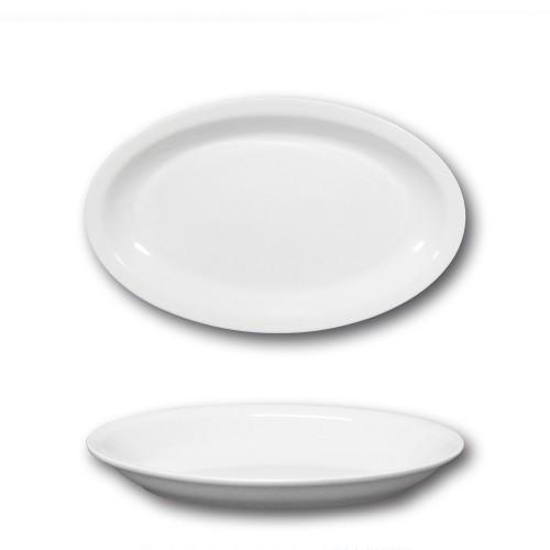 Plat ovale porcelaine blanche - L 24 cm - Roma