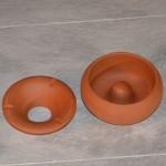 Lot de 5 Cendriers en terre cuite - Moyen modèle