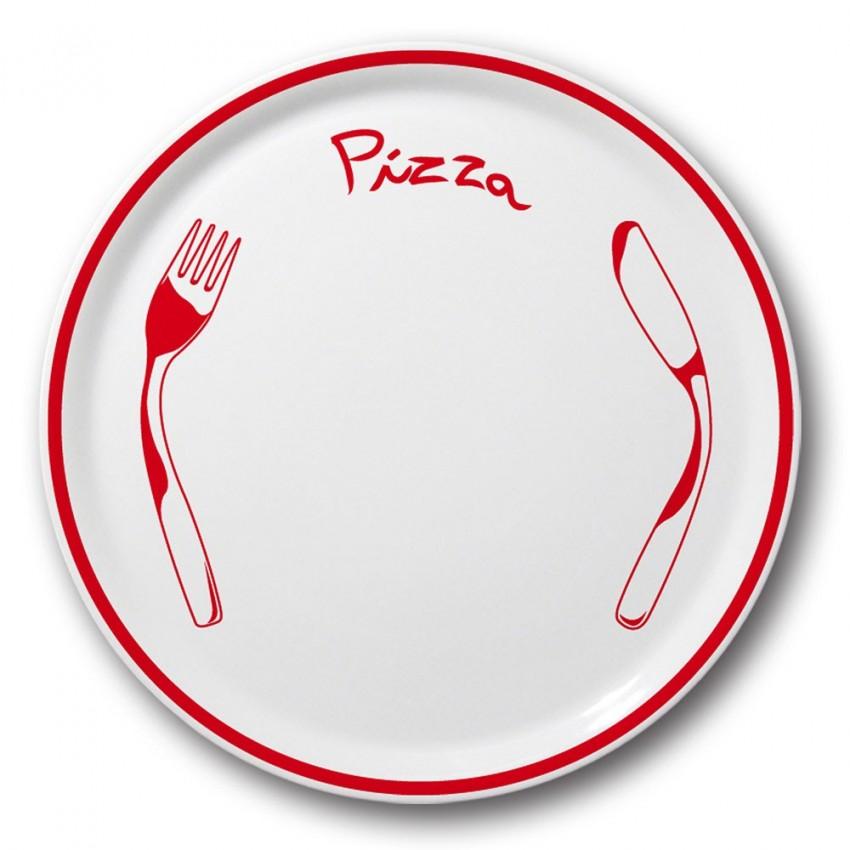 Assiette à pizza Rouge - D 31 cm - Napoli