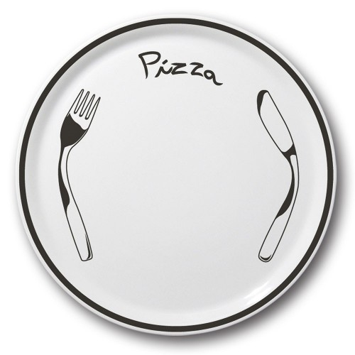 Lot de 6 assiettes à pizza Noire - D 31 cm - Napoli