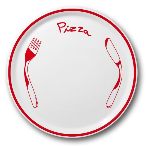 Lot 6 assiette à pizza Rouge - D 31 cm - Napoli