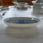 Plat ovale Bakir turquoise - L 24 cm