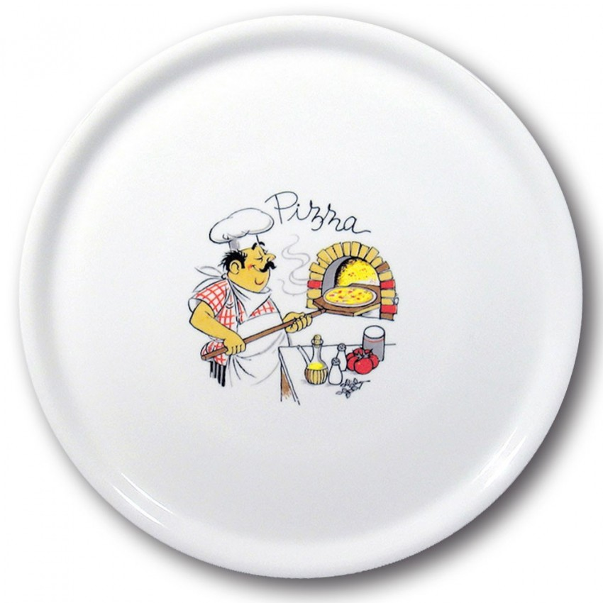 Lot de 6 assiettes à pizza Pizzaiolo - D 31 cm - Napoli