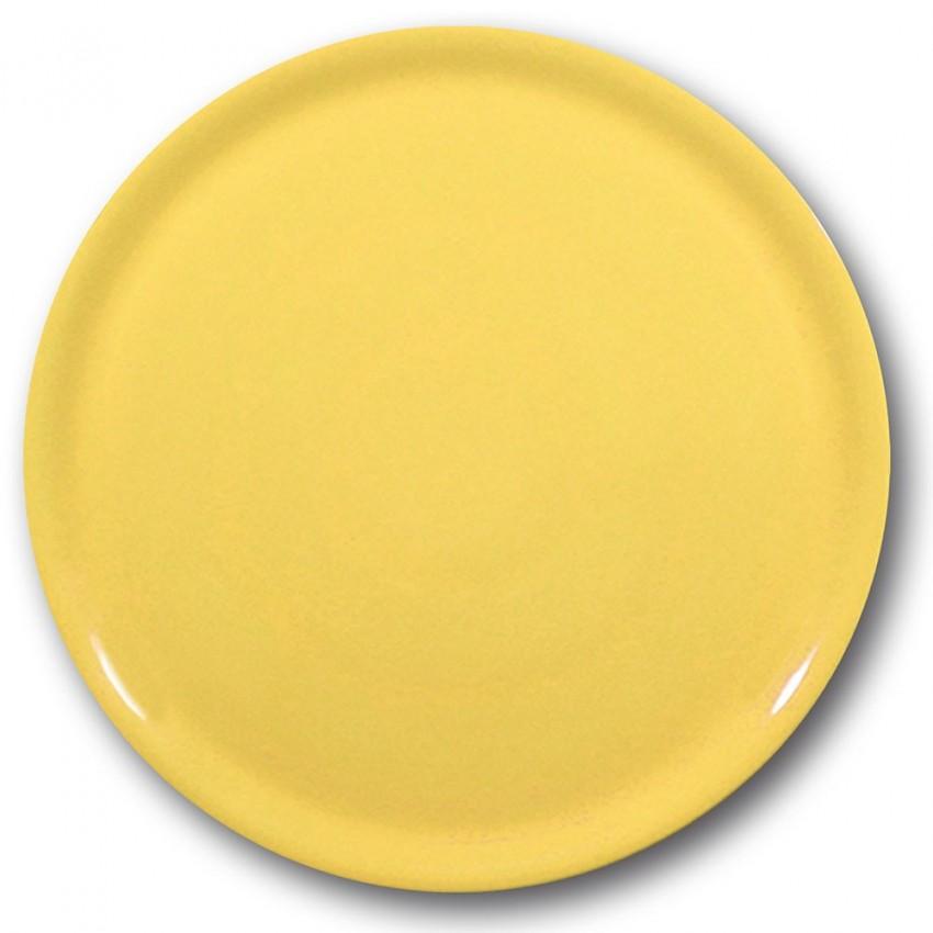 Lot de 6 assiettes à pizza Jaune - D 31 cm - Napoli