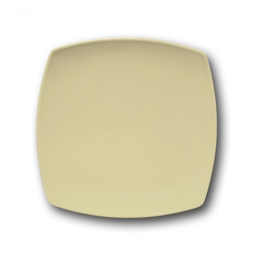 Lot de 6 assiettes à dessert porcelaine italienne Crème - L 21 cm - Tokio