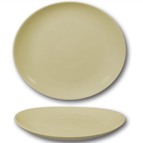 Assiette à steak porcelaine couleur crème - D 30,5 cm - Tivoli