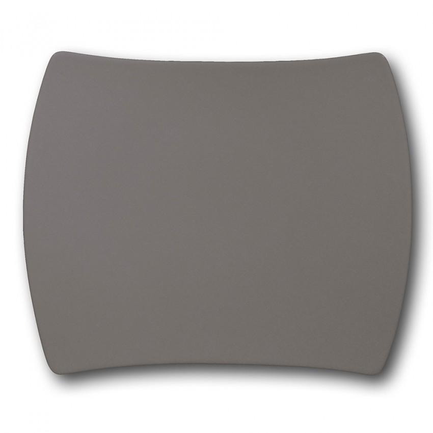 Plat rectangulaire porcelaine Gris - L 31 cm - Tokio