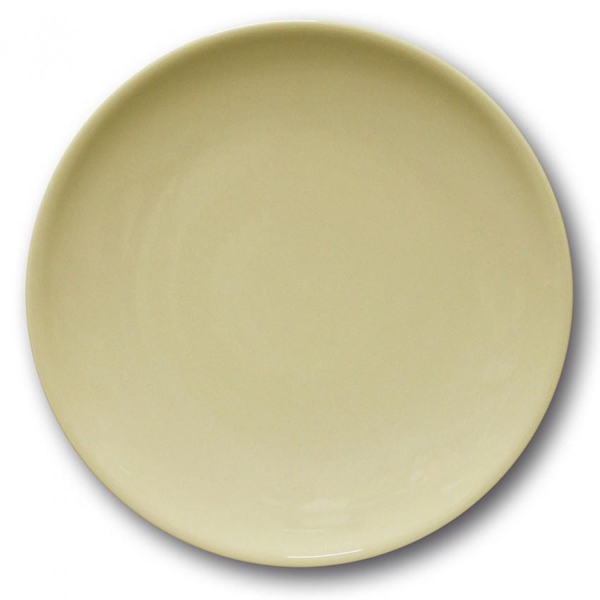 Lot de 6 assiettes plates porcelaine couleur Crème - D 28 cm - Siviglia