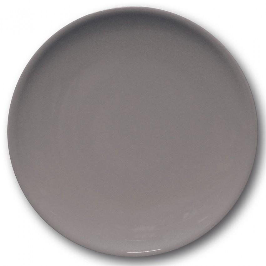 Assiette plate porcelaine Gris- D 28 cm - Siviglia