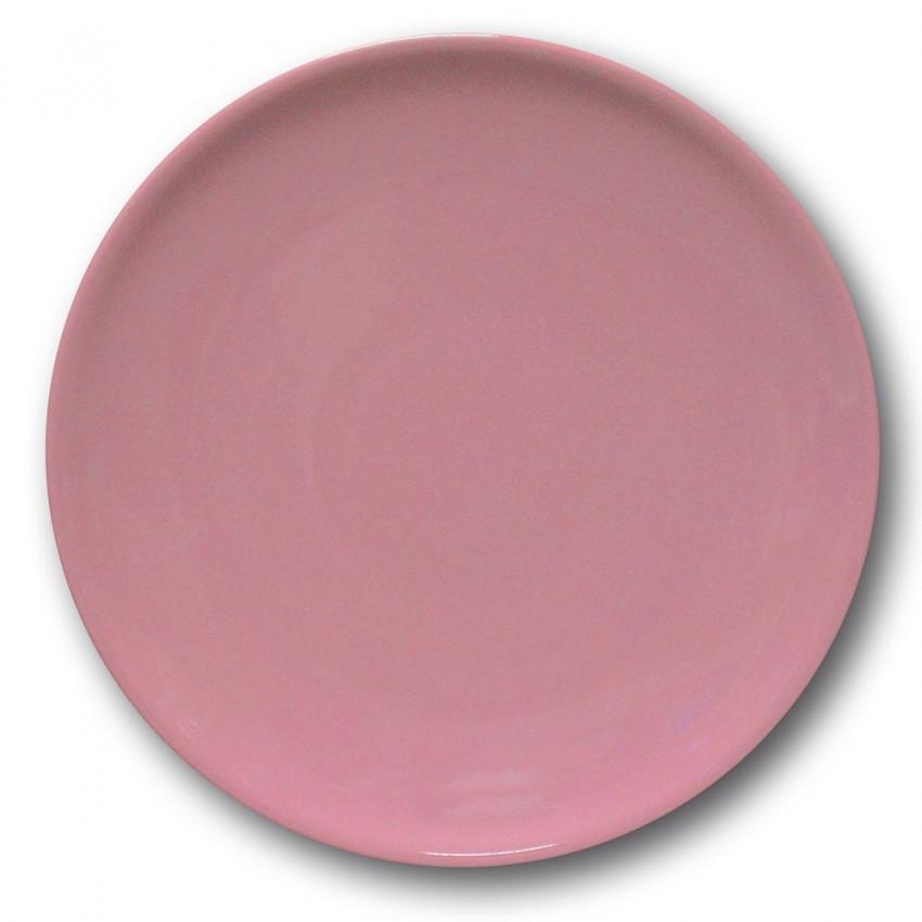 Assiette plate porcelaine Rose- D 26 cm - Siviglia