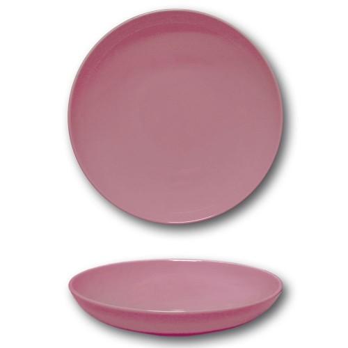 Lot 6 assiettes creuses porcelaine Rose - D 22 cm - Siviglia