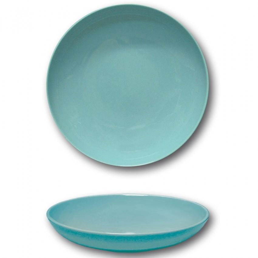 Assiette creuse porcelaine Bleue - D 22 cm - Siviglia