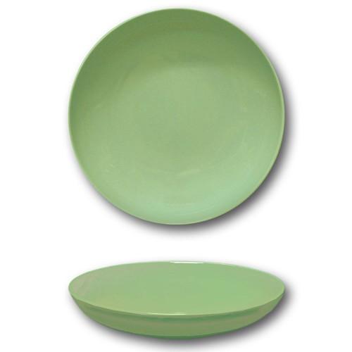 Assiette creuse porcelaine Vert - D 22 cm - Siviglia