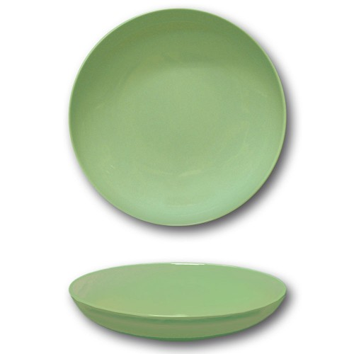 Lot 6 assiettes creuses porcelaine Vert - D 22 cm - Siviglia